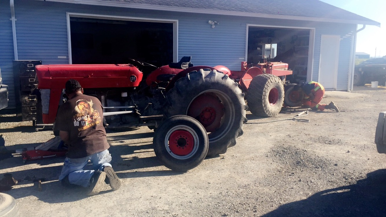 Fixing up the old Massey Ferguson's